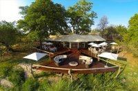 Top of the main lodge of Zambezi Sands - luxury Victoria Falls accommodation