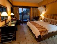A room at Hwange Safari Lodge near Hwange National Park, Zimbabwe