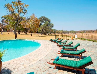 The pool at Hwange Safari Lodge near Hwange National Park, Zimbabwe