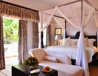 The honeymoon suite at Victoria Falls Hotel, Zimbabwe