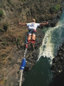 Bungee, bridge slide, bridge swing at the Victoria Falls Bridge