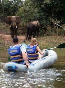 Zambezi River sunset safari plus adrenalin or safari activities, bundled into a package deal