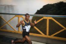 The logo for Victoria Falls Marathon annual event