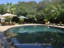 The pool at Bayete Guest Lodge. Victoria Falls, Hwange, Chobe safari.