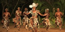 Traditional dancers at Gorges Lodge - Victoria Falls, Zimbabwe