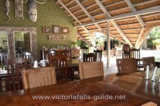 The dining area at Bayete Guest Lodge - Victoria Falls, Zimbabwe