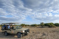 Game drive in Chobe National Park, Botswana. Chobe overnight camping is within Chobe National Park.