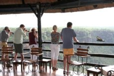 Black Eagle viewing at Gorges Lodge - Victoria Falls, Zimbabwe