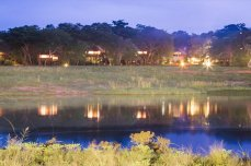 Ivory Lodge at night - Hwange National Park, Zimbabwe