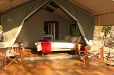 Tented room at the self-catering Kapula South Camp in the heart of Hwange National Park - Zimbabwe.