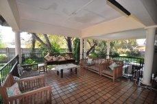 The entertainment area at Livingstone Lodge - Victoria Falls, Zimbabwe