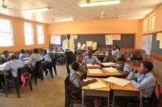 Inside a village classroom in Chobe, Botswana