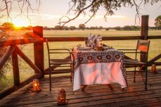VDining in the Dove's Nest treehouse - The Hide, Hwange National Park, Zimbabwe