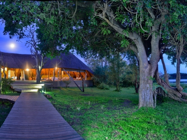 Evening at Victoria Falls River Lodge, Zambezi National Park near Victoria Falls, Zimbabwe