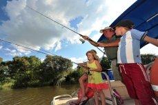 Fishing on the Zambezi River near Victoria Falls, Zimbabwe