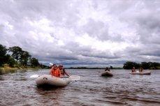 Canoe safaris on the Zambezi River near Victoria Falls, Zimbabwe