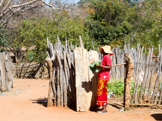 Elephant Camp village tour - Victoria Falls, Zimbabwe