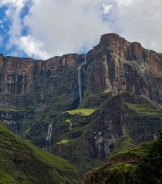 Tugela Falls in South Africa believed to be the second highest in the world