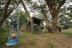 Camp site in Chobe National Park, Botswana