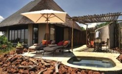 Front view of a room at Ngoma Safari Lodge - Chobe, Botswanan