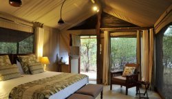 Spacious deluxe tents at Changa Safari Camp along Lake Kariba - Zimbabwe