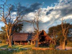 The sun setting at Bomani Tented Lodge - Hwange accommodation