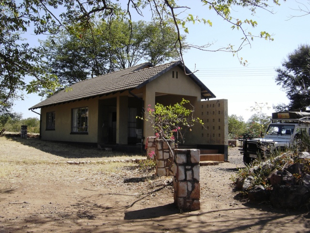 Front of lodge at Sinamatella Camp Hwange accommodation