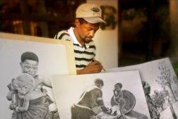 Lemington, artist in Victoria Falls