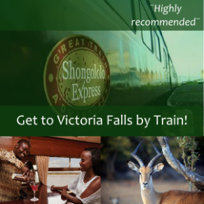 Get to Victoria Falls by train! Shongololo Express.