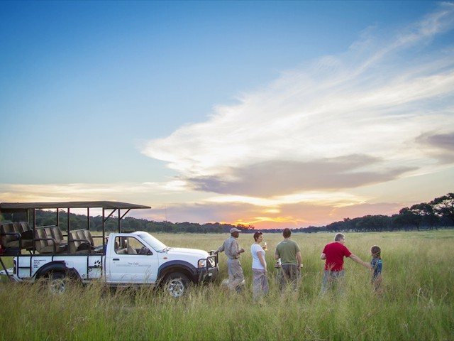 Guests of Ivory lodge in the Hwange wilderness - Zimbabwe
