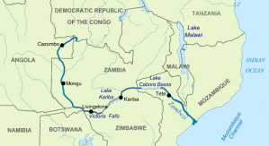 Length of the Zambezi River from the source to the delta