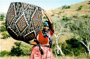 Zulu woven basket from South Africa - African culture