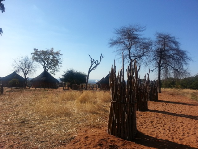 African culture: Traditional Ndebele village - African village, Victoria Falls, Zimbabwe