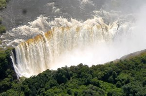 The Victoria Falls in high water flow, Victoria Falls, Zimbabwe