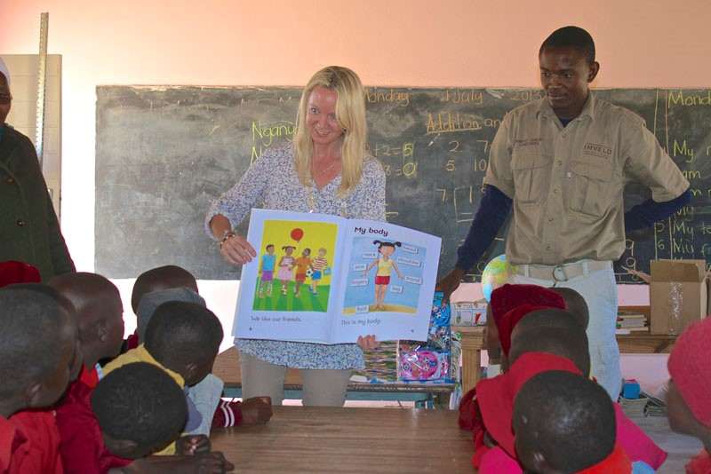 Bomani Lodge School visit in Hwange - Zimbabwe