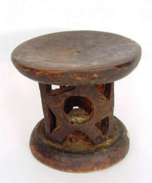 Wooden Tonga stool