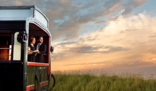 The Rovos Rail train which goes to Victoria Falls
