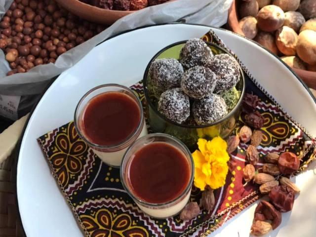 Dessert made with real traditional Zimbabwean ingredients - Victoria Falls - Zimbabwe