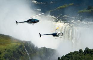 Helicopter flights over the Victoria Falls