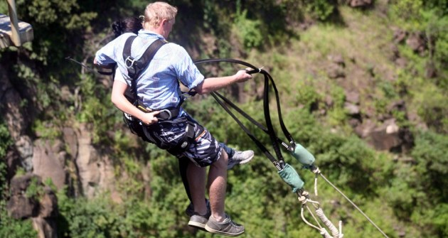 Pure adrenaline swing off the Victoria Falls Bridge