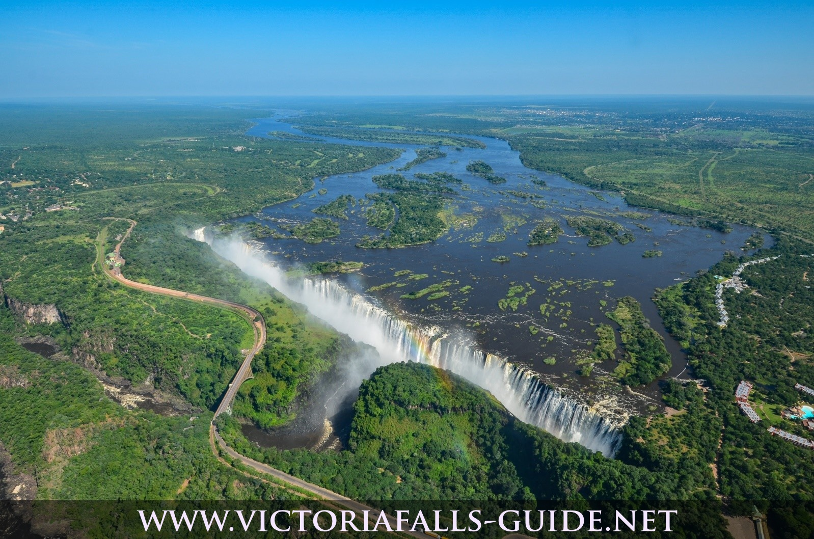 Aerial photo of Victoria Falls taken 30 January 2015