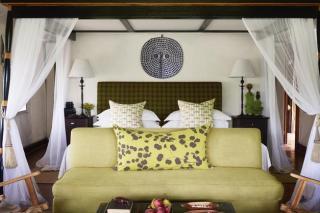 Luxurious suite at Khwai River Lodge in the Okavango Delta, Botswana