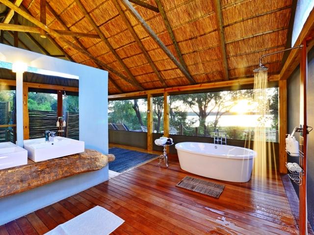 Victoria Falls River Lodge along the Zambezi River near Victoria Falls, Zimbabwe