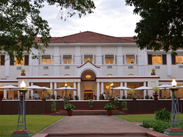 The oldest yet grandest hotel in town. This package includes flights in and out of Victoria Falls, staying at the fabulous Victoria Falls Hotel.