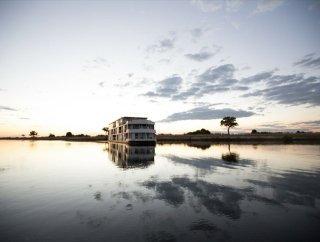 Gorgeous view of the Zambezi Queen sailing on the Chobe River - Namibia, Botswana