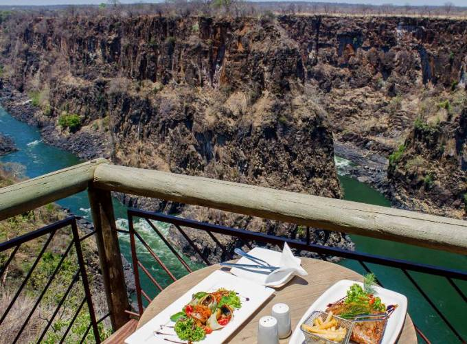 The view of the gorges from The Lookout Cafe - Victoria Falls, Zimbabwe