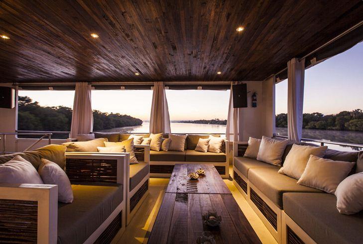 The Signature lounge on the Zambezi Explorer - Victoria Falls, Zimbabwe