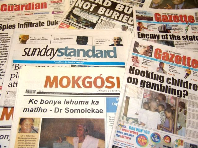 Newspapers of Botswana