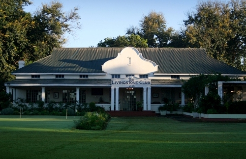 The present look of the Livingstone Royal Golf Club in Zambia near the Victoria Falls
