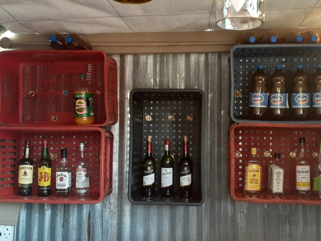 The bar at Dusty Road township experience in Victoria Falls, ZImbabwe
